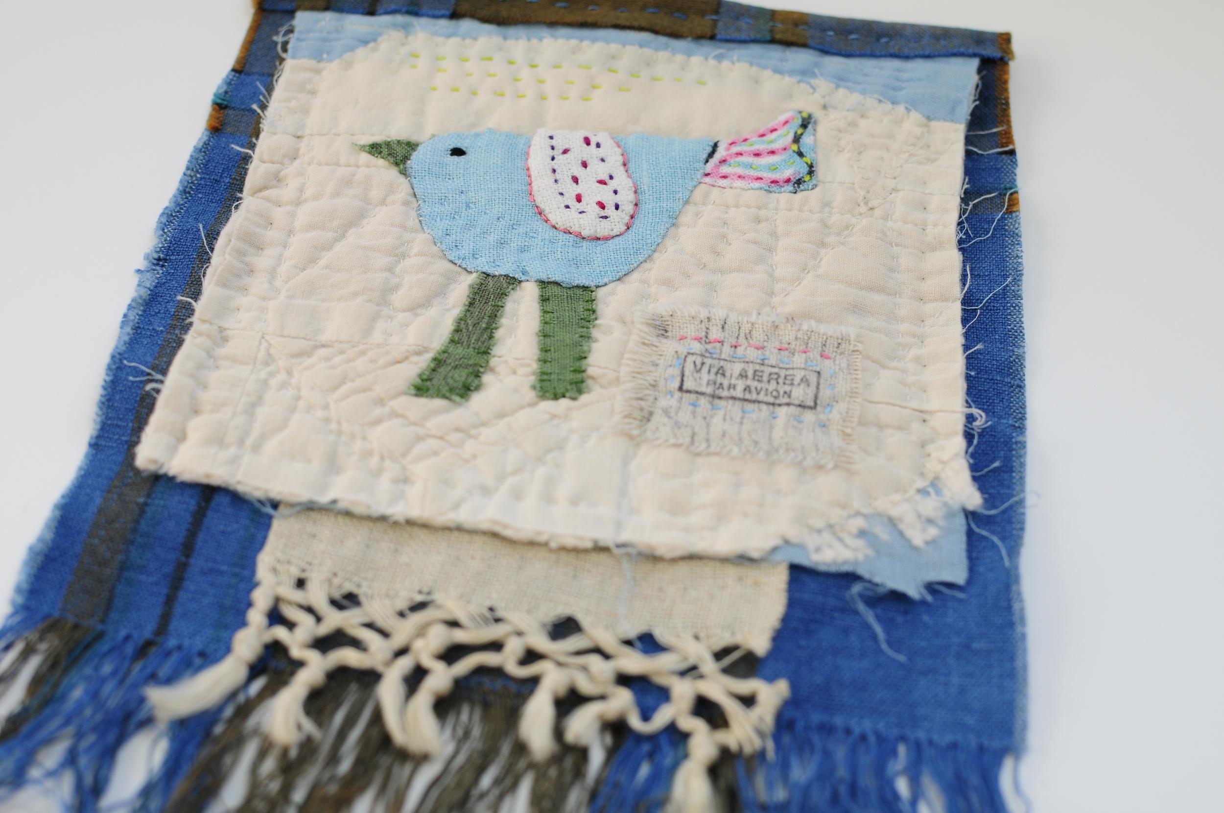 Little Blue Bird Mini Wallhanging (1)