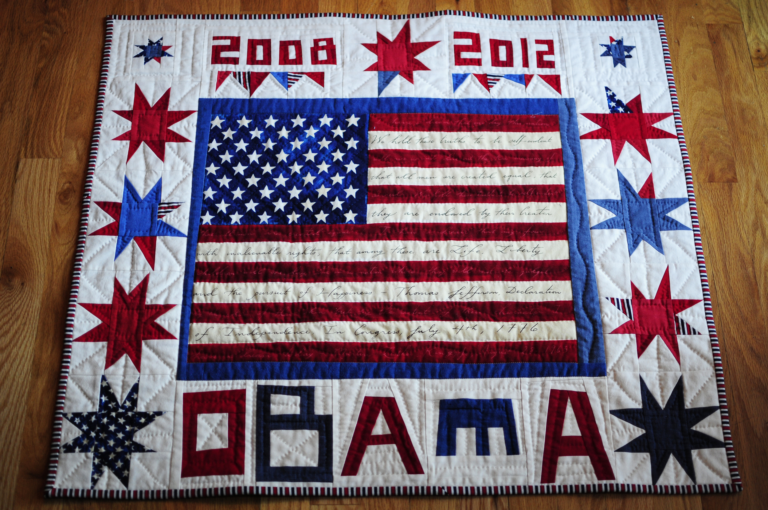 Obama Quilt on Inauguration Day