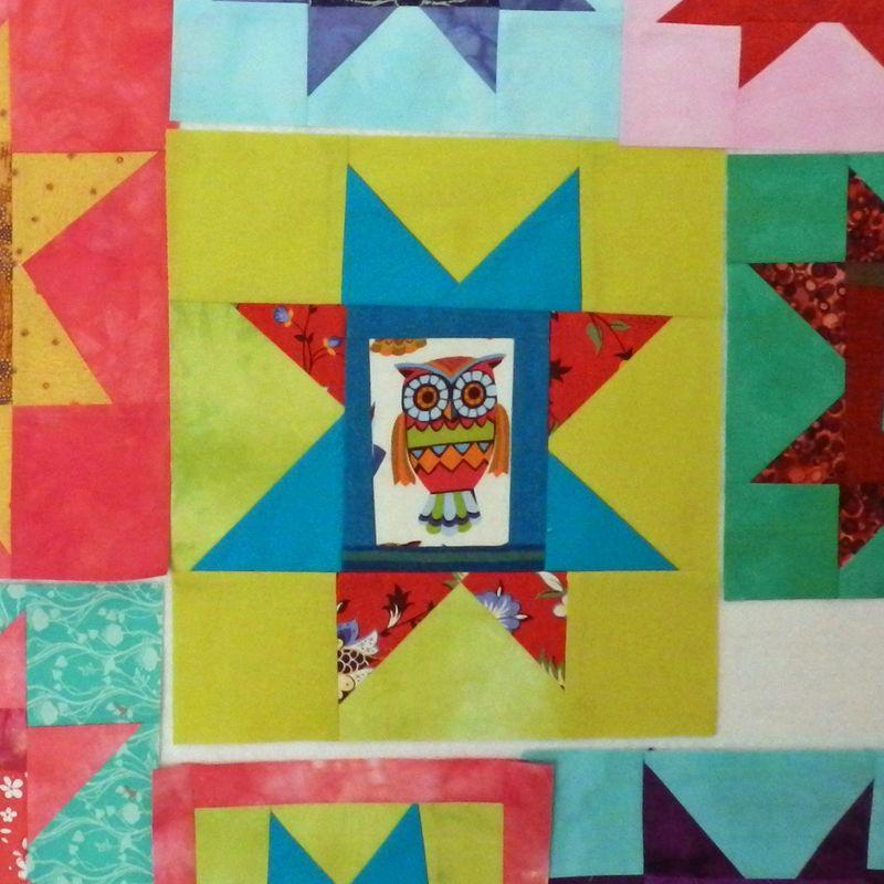 Owl star block