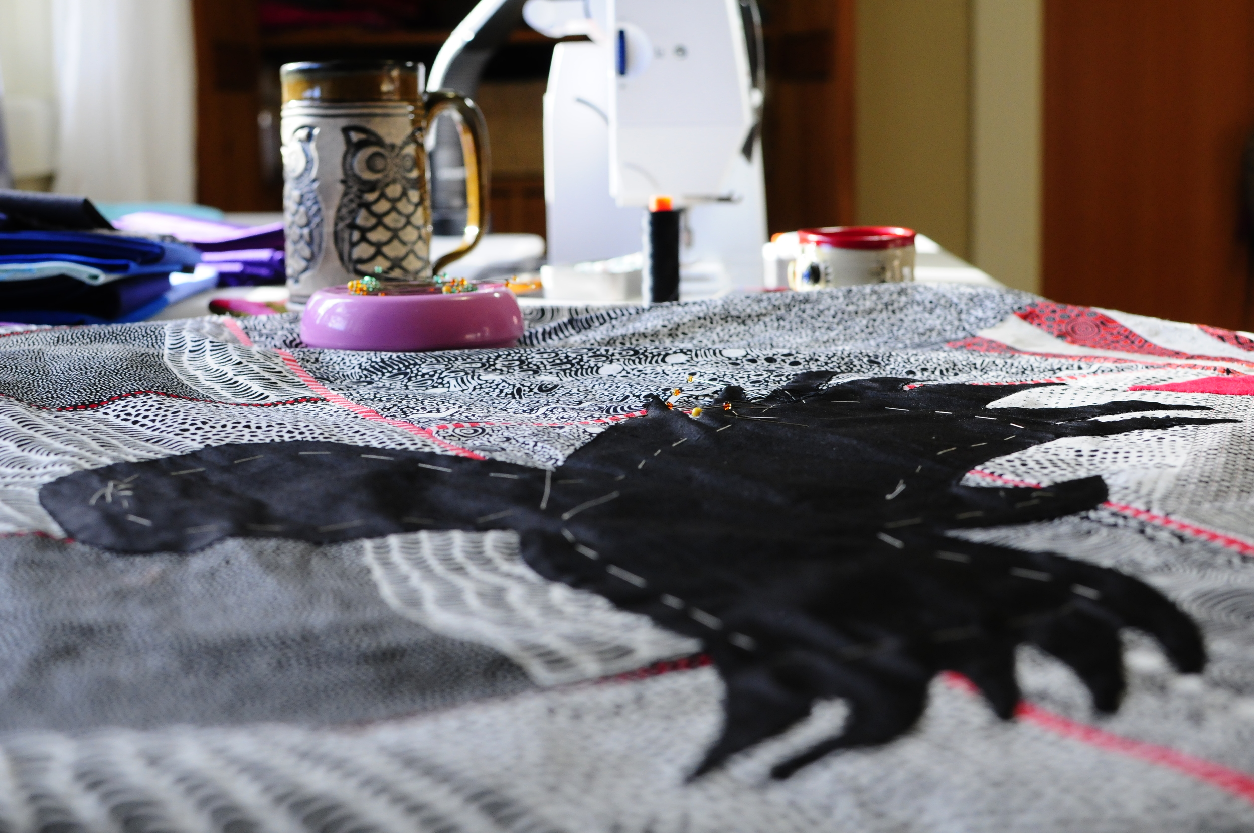 Celia's Raven in progress (6)