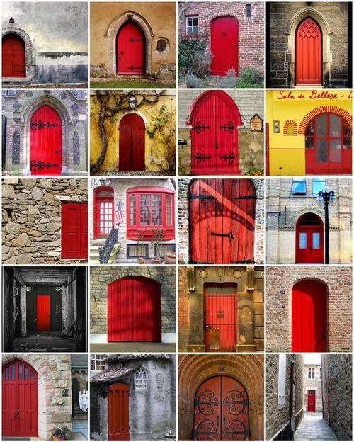 Red Door Mosaic