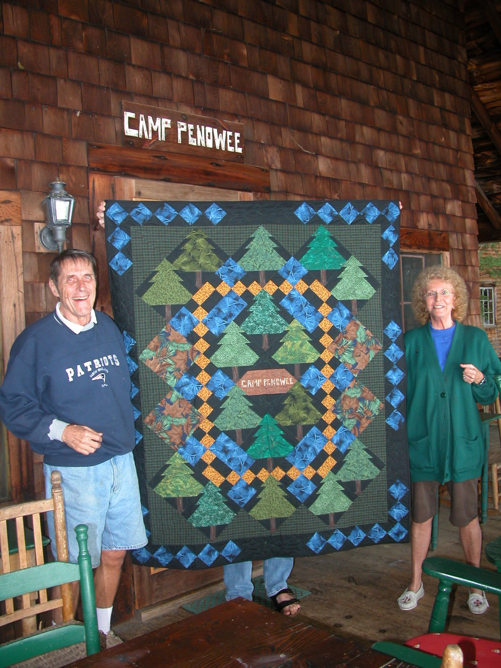Roger and Kit with Camp Penowee quilt