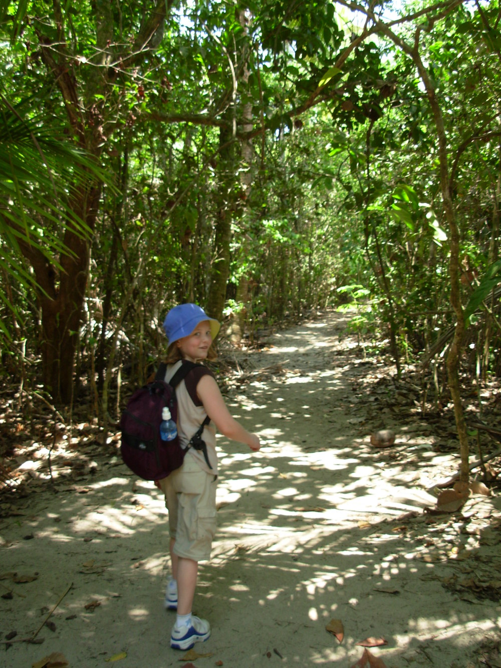 Chloe walking in Manuel Antonio National Park