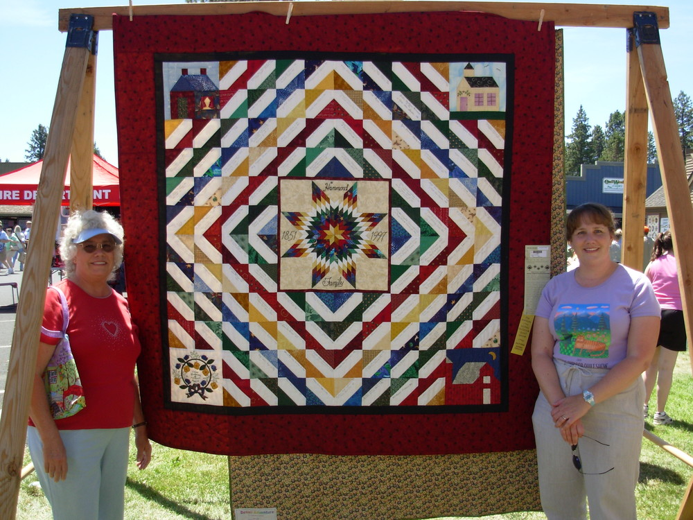 Hammond Family Reunion Quilt made by Mom and me.