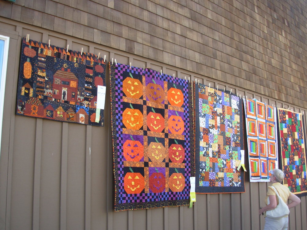 "My quilt, ""The Witch is In"", is on the left."