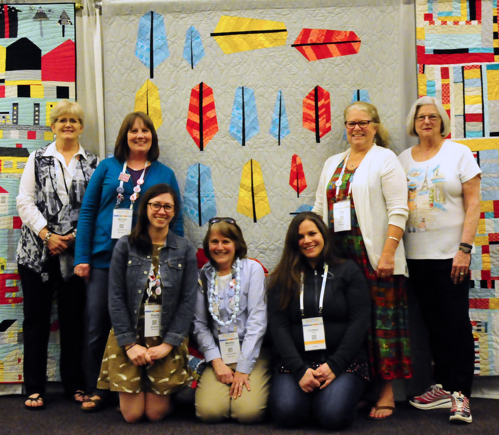 Me and my Central Oregon Modern Quilt Guild friends!