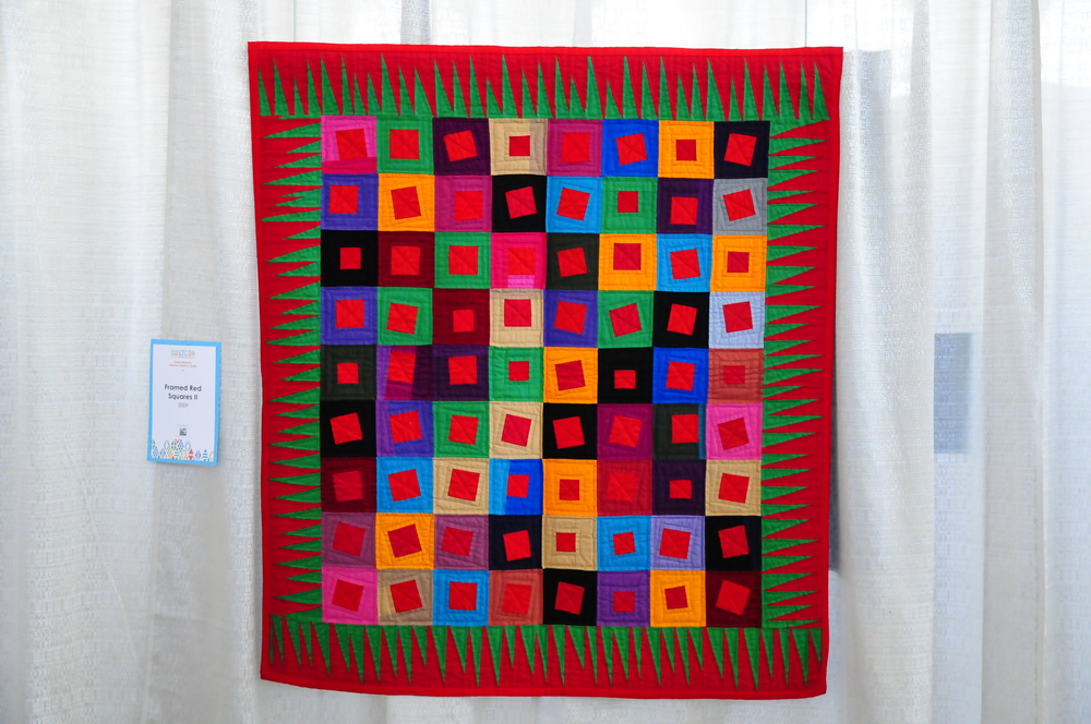 Framed Red Squares II by Gwen Marston