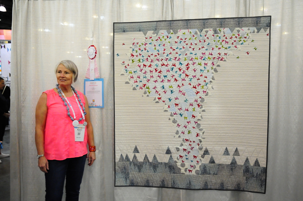 Catnado by Karen Duling, 2nd Place Triangle Quilt Challenge