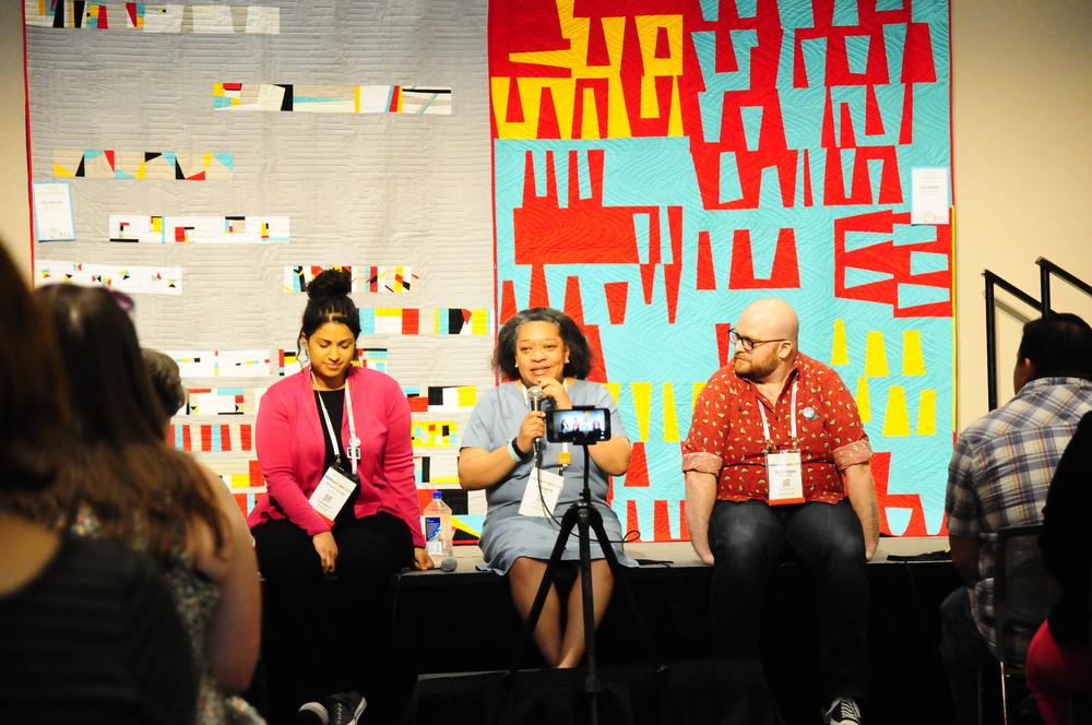 Vanessa Vargas Wilson, Chawne Kimber and Giuseppe Ribaudo
