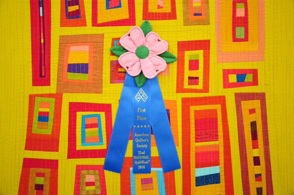 Las Ventanas- First Place in First Entry into AQS QuiltWeek Paducah