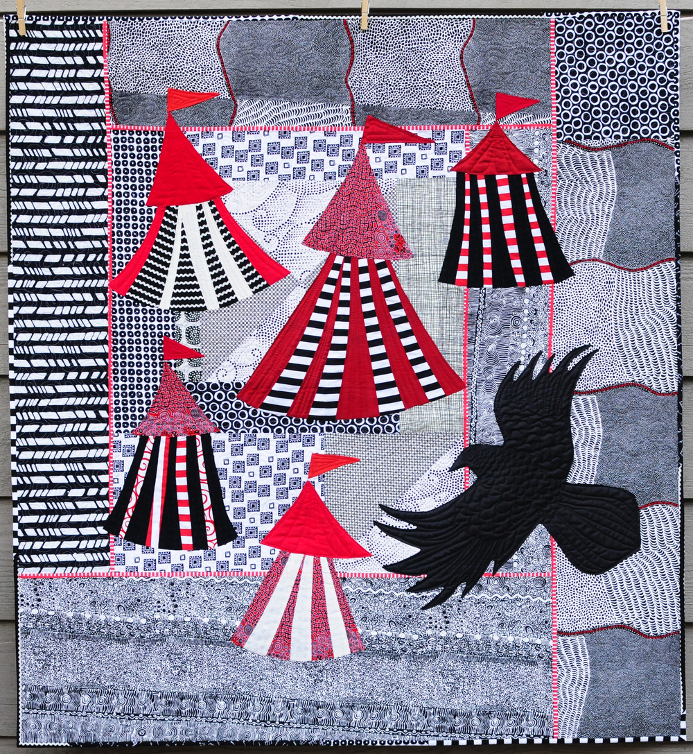 Celia's Raven 43 x 46