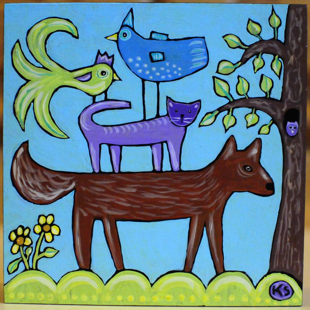 Purple Cat and Friends