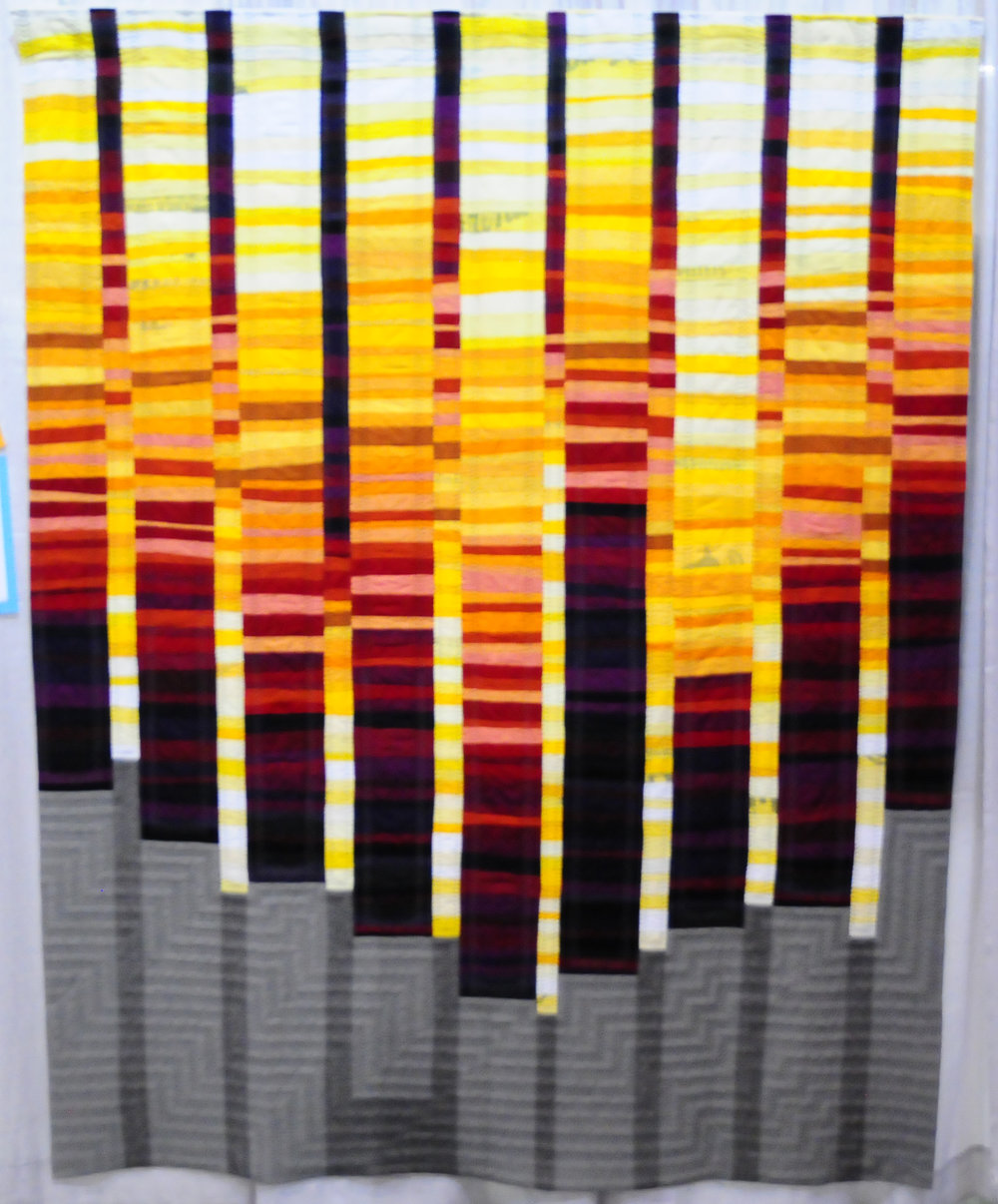 Quilt no.019: (Of Discontent) by Shelby Skumanich ( @godshomemovies ), Second Place in Handwork
