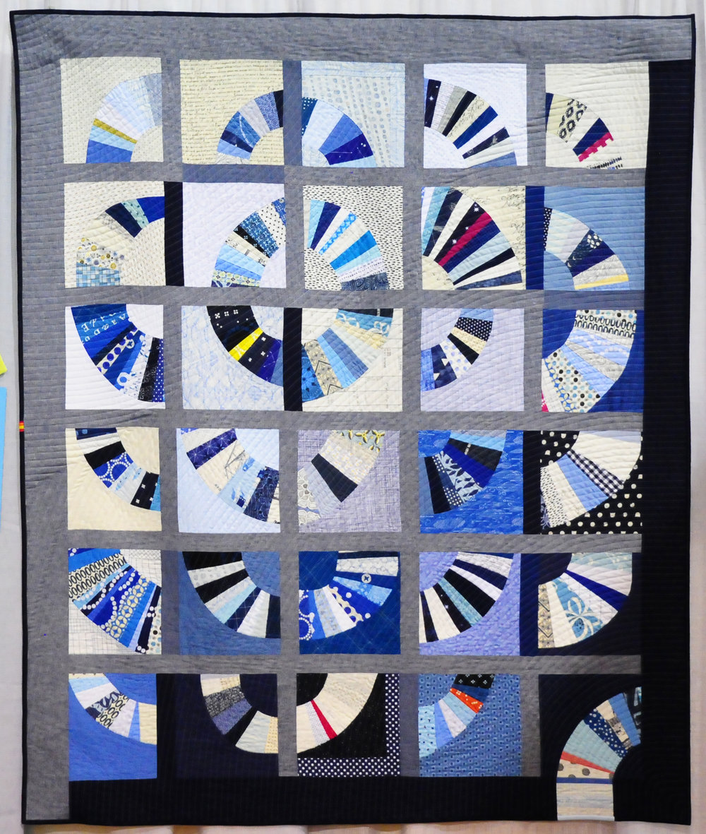 Blue Blue Electric Blue by Ara Jane Olufson ( @arajane ), Second Place Group or Bee Quilts