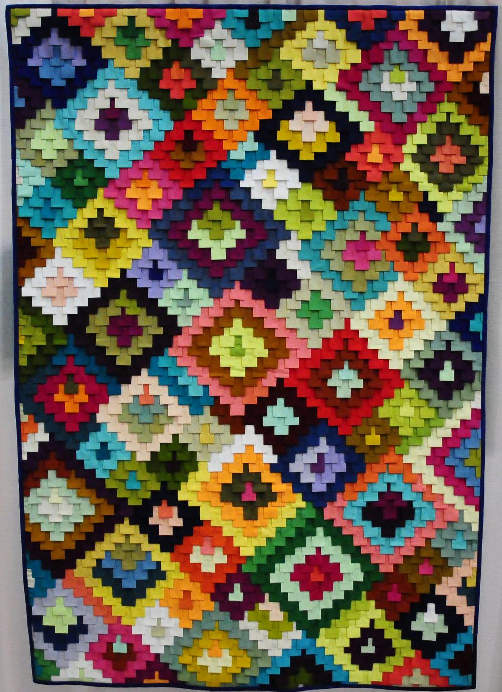 Bazaar Quilt by Tara Faughnan (@tarafaughnan), detail below