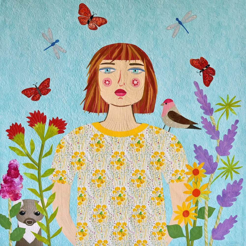 Maria and the Finch, 40x40
