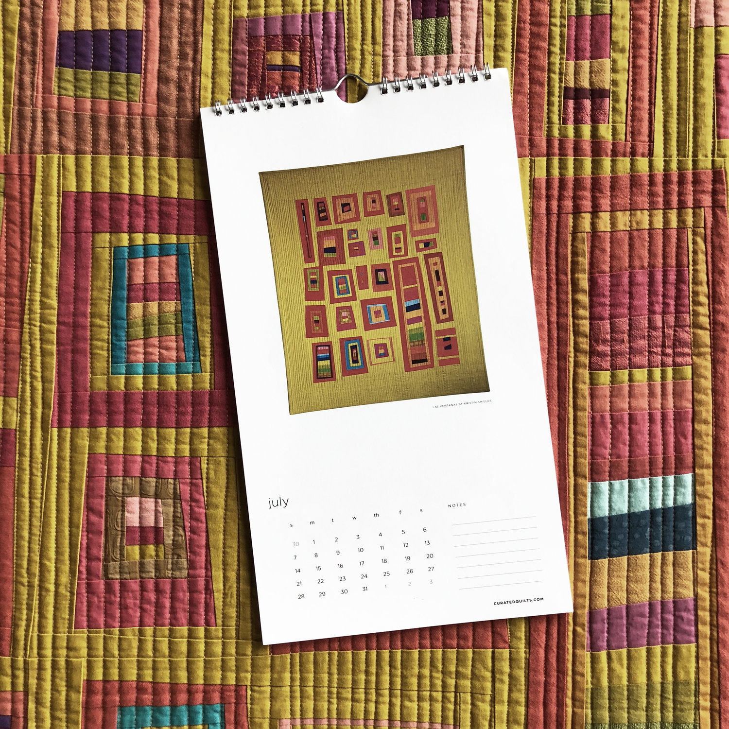 Giveaway :: 2019 Curated Quilts Calendar — Kristin Shields