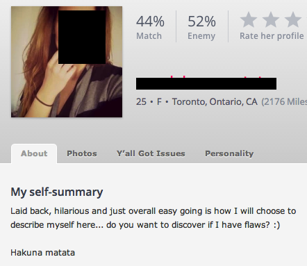Okcupid best self summary for dating