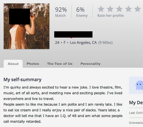 Self summary for dating profile