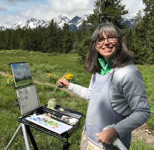 Plein Air painting in Grand Teton National Park 2017