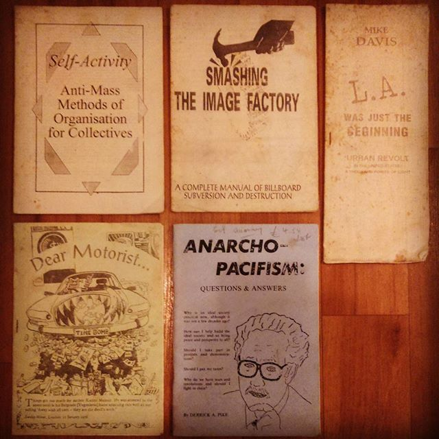 Holiday book haul part two: A collection of 70s Anarchist pamphlets.  All of these came from #TheSanctuaryBookshop in #LymeRegis, which I highly recommend visiting; ten rooms, four floors, books, records, oddities and even bed and breakfast!  #books #booksofinstagram #igbooks #igreads