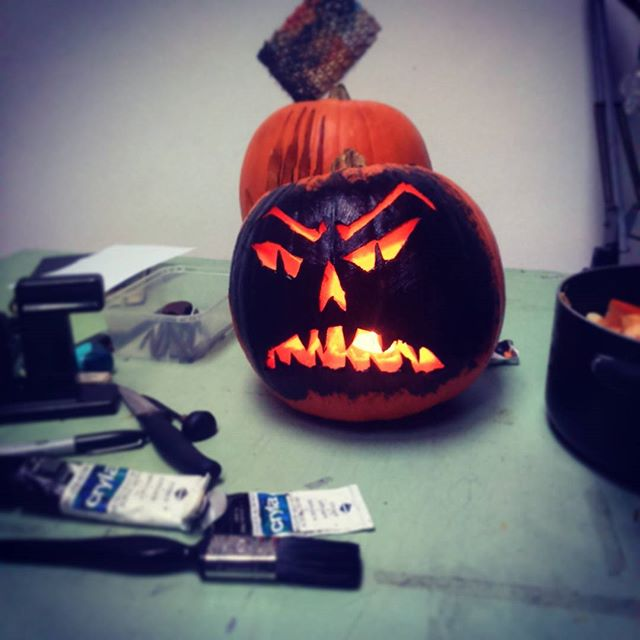 Never carved a #pumpkin before. It's a right ball ache.  #halloween