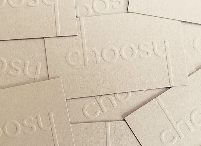 Choosy biz cards fresh off the press! ⚡️#getchoosy