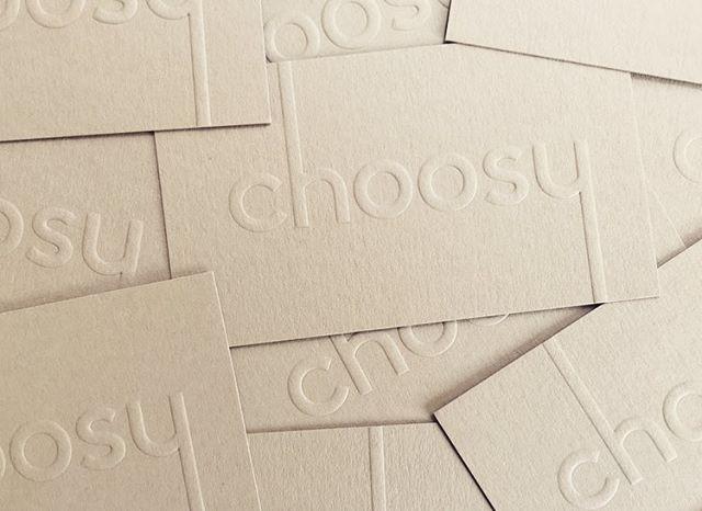Choosy biz cards fresh off the press! ⚡️#getchoosy