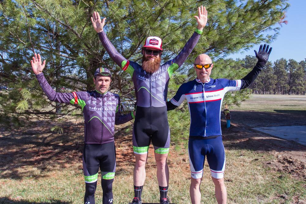 Paul Webb & Matt Tillinghast of Harvest Racing on the podium at 2015 Tour De Husker Crit