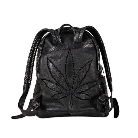 SWEET LEAF SNAKE SKIN BACKPACK  .jpg