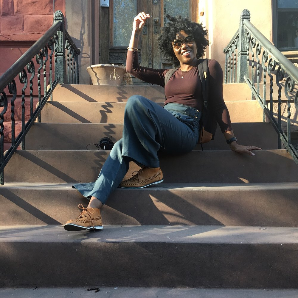 Me chilling on my cofounders bedstuy stoop after a afternoon work sesh!