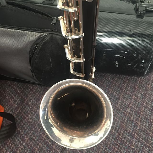 Bass clarinet! #bassclarinet . . Having fun at @vcfamusiccomp residency this week in VT