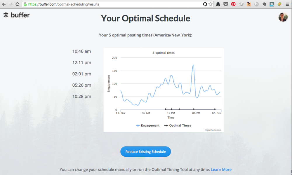 The Optimal Timing Tool is useful if you're a frequent Buffer user.
