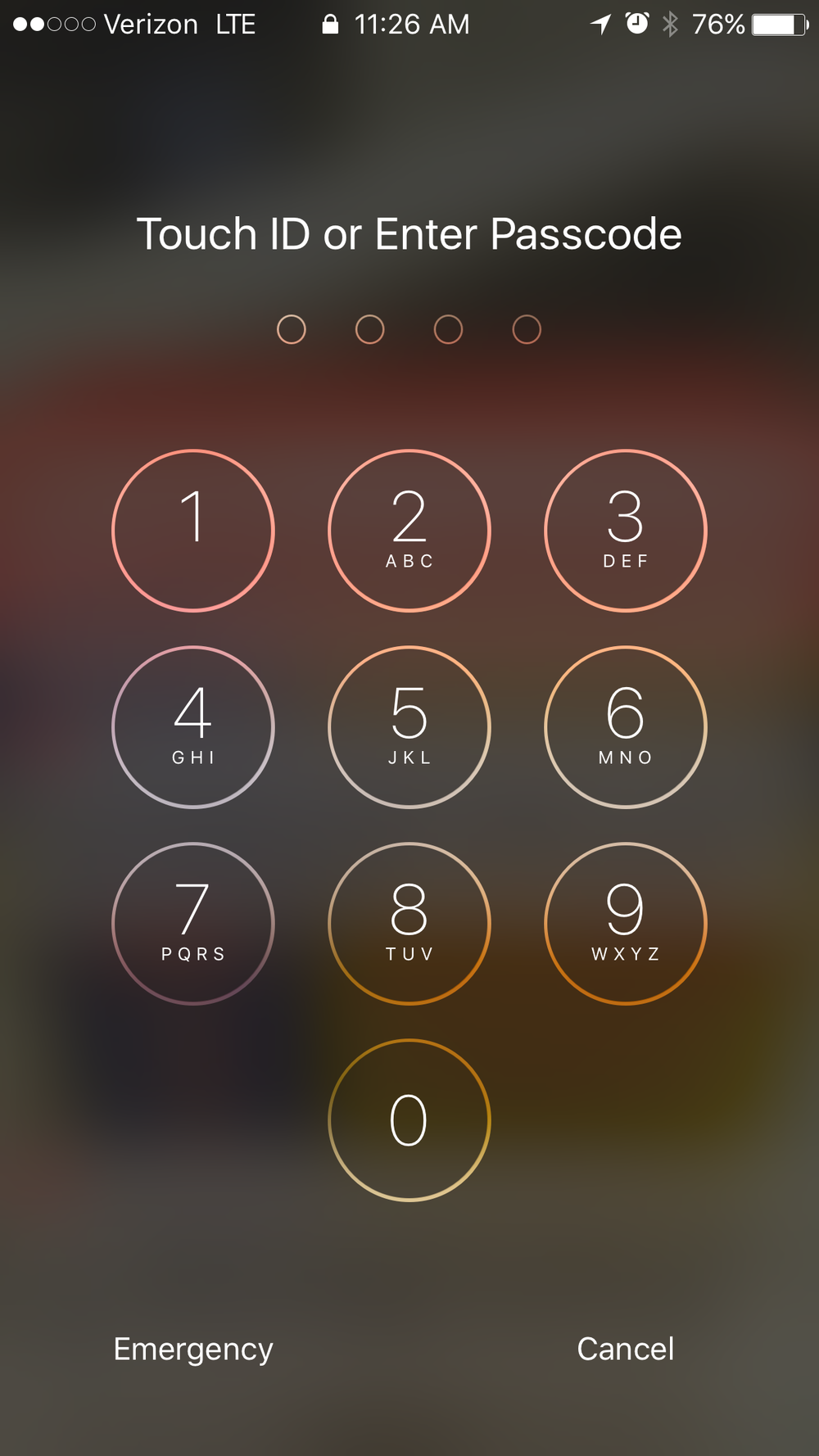 Swiping right on your iPhone no longer brings up a keypad, like the one pictured, on iOS 10.
