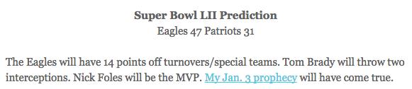eagles patriots super bowl 2018 prediction