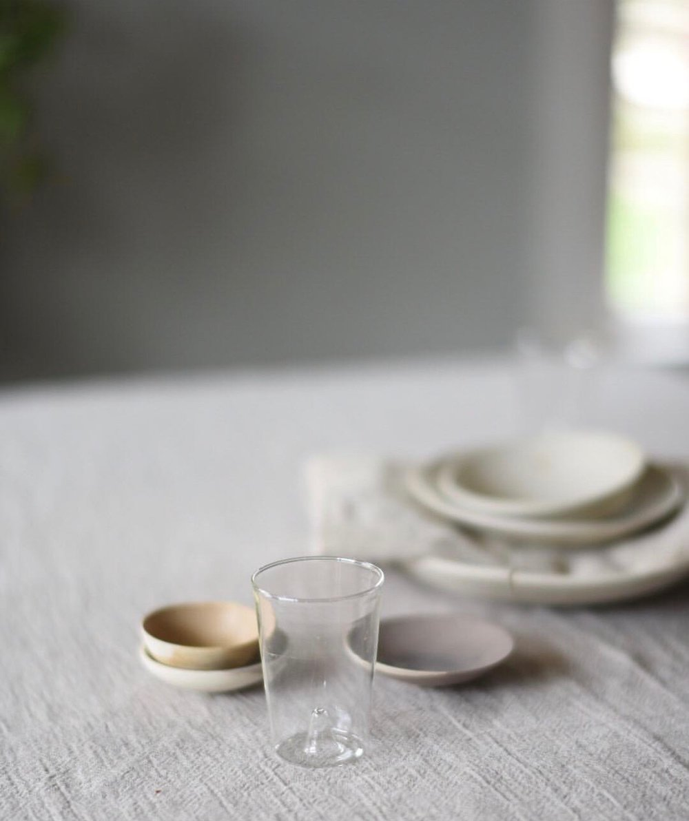 Source:  Linen Cloth,   Glass ,  All Ceramic Dishes ,  Napkin