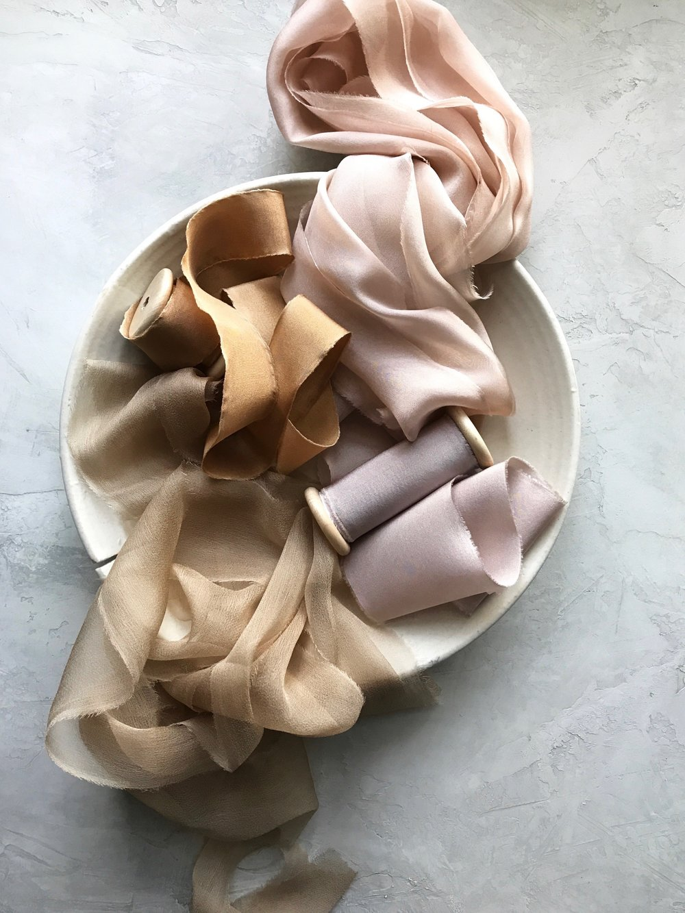 Source:  Styling Surface ,  Ribbon ,  Ceramic Bowl