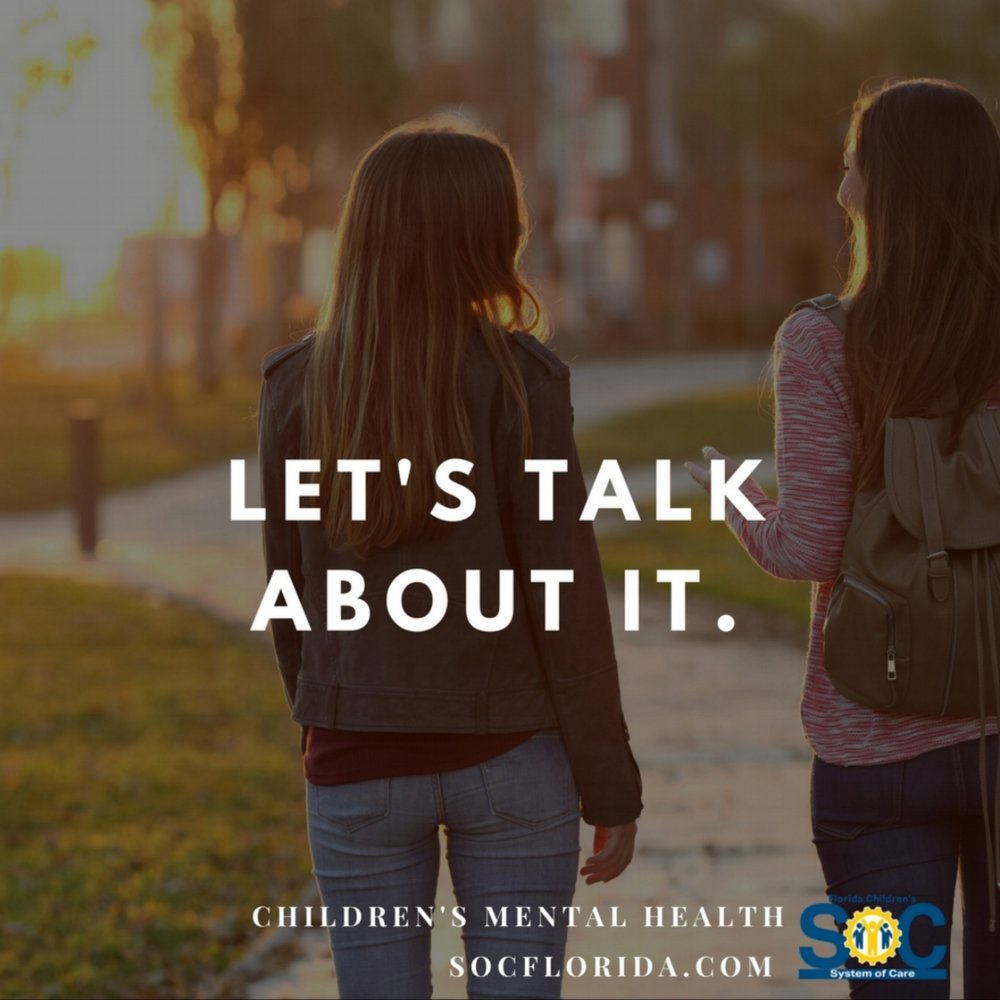 #NotAlone  – Youth don't want to be isolated because of their mental health condition; they just want someone to talk to.   #LetsTalkAboutIt  – Stopping the stigma associated with mental health conditions.   #ItStartsHere  – Mental wellness starts early.