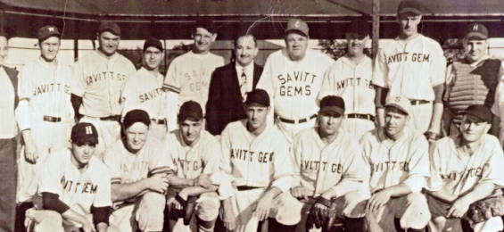 1945 Savitt Gems with Babe Ruth
