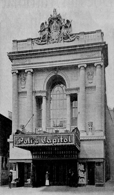 Originally opened on August 28, 1920 as the Poli's Capitol Theatre, designed by Thomas W. Lamb. It was later known as the Fox-Poli Theatre before finally becoming the Loew's Poli Theatre. Located on Main Street, this was perhaps the most elegant theatre in Hartford. Loew's Poli Theatre was still open in 1956, but had closed by 1957.