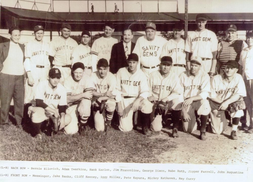1945 - Savitt Gems Host Babe Ruth - The