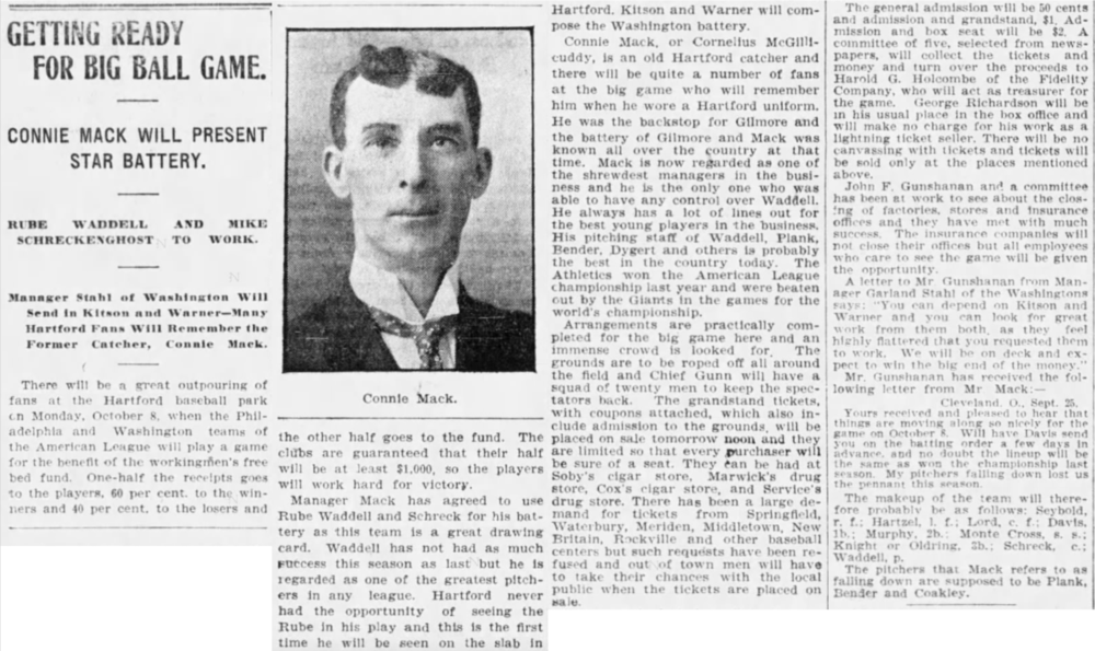 Hartford Courant excerpt from 1906.