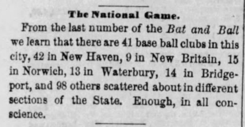 1866More than 200 teams in Connecticut - Printed in Hartford,