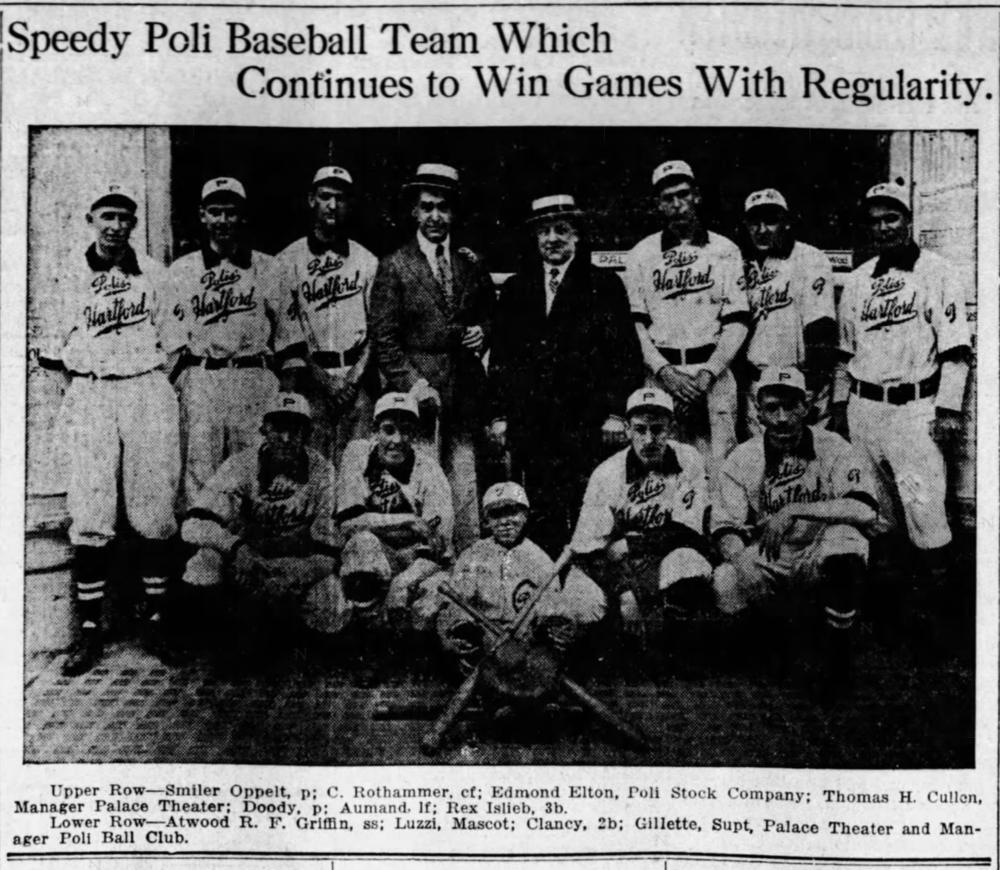 1914 Hartford Poli's Baseball Club