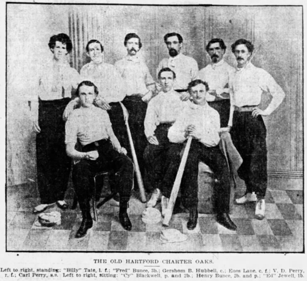 1865The Charter Oak Base Ball Club - One of Hartford's first organized baseball teams, the Charter Oaks were the best team in the Greater Hartford area.