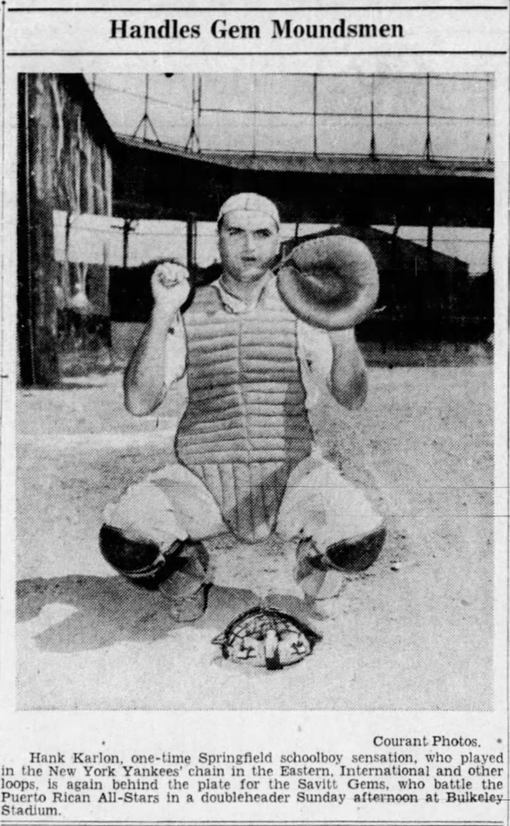 Hank Karlon, Savitt Gems, 1942.
