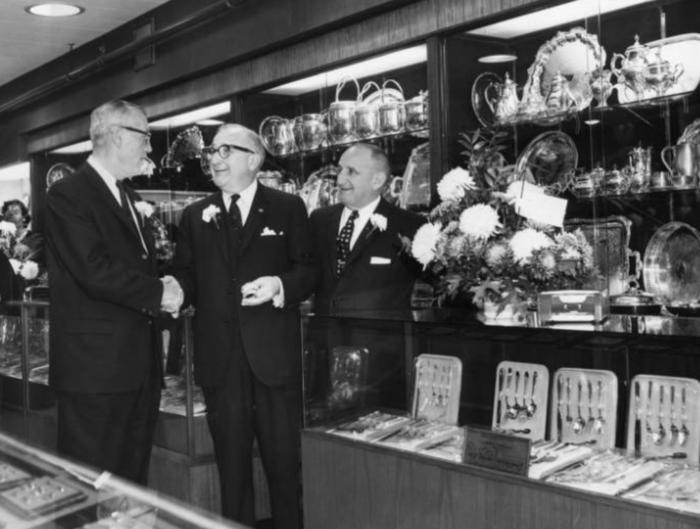 The Savitt Jewelers showroom, 1960.
