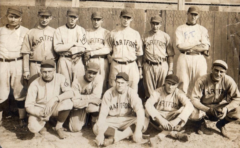 1915Hartford Senators - An independent team in the Colonial League led by their player-manager, Frank Delahanty (front, center).