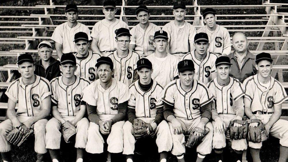1957 St. Cyril's baseball club at Colt Park.