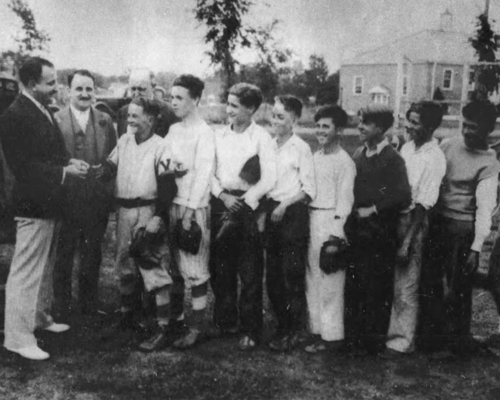 Bill Savitt awards Camp Courant All-Stars, 1934.